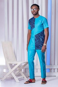 Nigeria's FreshbyDotun Unveils The Look Book For Sprig of Veldam Collection African Attire For Men, African Clothing For Men, African Shirts, African Print Fashion, African Wear, African Dress, Nigerian Outfits, Boys Kurta Design, Mens Designer Shirts