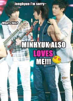 Kekeke...CN Blue macro!!! #MinHyuk #CNBLUE #kpop