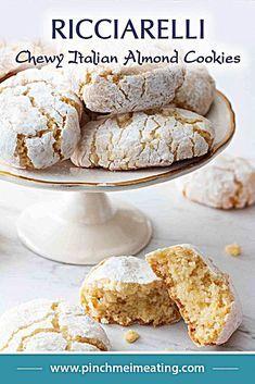 Italian Almond Biscuits, Italian Almond Cookies, Almond Meal Cookies, Italian Cookie Recipes, Almond Recipes, Baking Recipes, Dessert Recipes, Easy Recipes, Italian Pastries