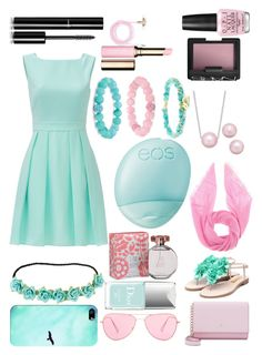 """""""blue and pink"""" by derpysandwich ❤ liked on Polyvore featuring Kate Spade, Rupert Sanderson, Casetify, Christian Dior, Eos, Isabel Marant, Jardin des Orangers, maurices, Palm Beach Jewelry and OPI"""