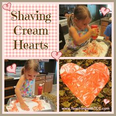 Teaching with TLC: Beautiful Shaving Cream Hearts for Valentine's Day