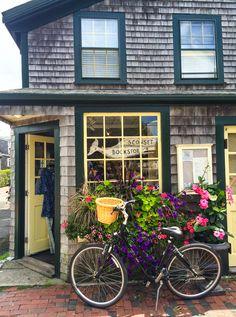 Bookstore in Sconset, Nantucket  Visit www.NikkiNearAndFar.com