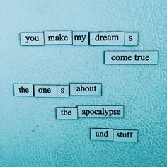 depressing fridge poems — #tbt #depressingfridgepoems . . #poem #poetry...