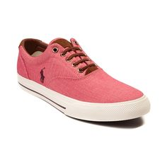 Simple, clean, and casual. The Vaughn Casual Shoe from Polo Ralph Lauren offers casual comfort with refined style. The Vaughn sports a handsome tweed upper with signature embroidered Polo logo.     Features include   Breathable tweed upper with suede trim   Leather lace closure for a secure fit   Padded collar provides support and comfort   Cushioned insole offers shock-absorbing comfort   Durable rubber sole delivers flexible traction