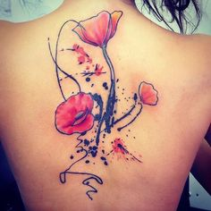 #Poppys #absract #tattoo finished today.. by @andytattooclark I #love doing this style of work.. please message me if you'd like something like this!! http://ift.tt/2wm3AJM