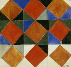 By Sonia Delaunay, 1924-25, Untitled, watercolor on paper.
