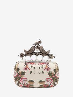 Floral Embroidery Bird Knuckle Clutch Alexander McQueen   Clutch   Bags  