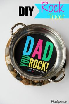 DIY Rock Trivet With