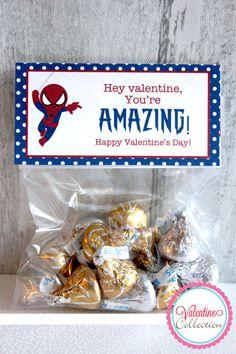 Spiderman Valentine Bag Topper DIY Printable by StacysSweetStuff