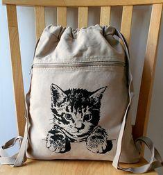 mochila algodon gato