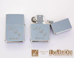 Mecheros grabados con láser para boda