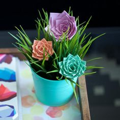 Create a cute, simple duct tape rose. Check out how to make this easy craft from Duck® brand. http://www.duckbrand.com/craft-decor/activities/roses?utm_campaign=dt-crafts&utm_medium=social&utm_source=pinterest.com&utm_content=duct-tape-crafts-flowers