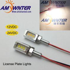 Chất Lượng cao Auto Đèn Led 12 V Xe tạo kiểu Xe Gắn Máy Đuôi Số Giấy Phép Mảng Bolt Vít Bóng Đèn Bạc màu đen