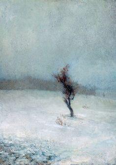 "birdsong217: "" John La Farge (American, 1835-1910) Snow Storm, 1865. Oil on canvas. High Museum of Art, Atlanta. """