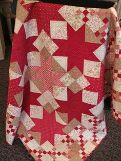 Nantucket Midwinter Reds Quilt Kit.  Only one or two kits remain at www.hollyhillquiltshoppe.com
