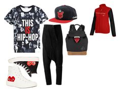 """hip hop"" by loveme-dxx ❤ liked on Polyvore featuring ISAAC SELLAM EXPERIENCE, Comme des Garçons, Play Comme des Garçons, Alexander Wang and Reebok"