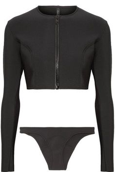 Lisa Marie Fernandez - Farrah Bonded Bikini - Black Source by netaporter Swimwear Bikinis For Sale, Bikini Swimwear, Swimsuits, Sporty Swimwear, Bikini Beach, Crop Top Bikini, Black Bikini, Rash Guard Swimwear, Shoes