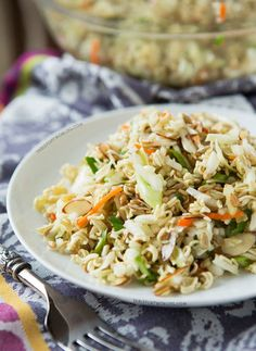 You can travel outside the Mediterranean for pasta salad inspiration too — this version uses coleslaw mix and ramen for an Asian take on the summer staple. Click through for more pasta salad recipes you'll want this summer.