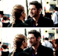 lucifer looking at chloe --- 1x04: Manly Whatnots
