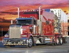 NICE, Kenworth with condo apt in back. Now That's A Beautiful Thing! Big Rig Trucks, Semi Trucks, Cool Trucks, Toyota Trucks, Peterbilt Trucks, Custom Big Rigs, Custom Trucks, Volvo, Trailers