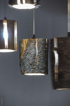 Cracked Log Pendant Lights  (5)