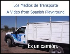 Los medios de transporte: a video in the Spanish Words Kids Love series from Spanish Playground. This short video teaches Spanish words for means of transportation in the context of simple sentences supported by focused images. Includes Spanish vocabulary, activity suggestions and printable picture cards for games. A great learning tool for teaching Spanish to kids.  http://spanishplayground.net/spanish-words-transportation-video/