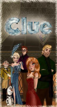 If Frozen was Cluedo (because I'm not American) Kida Disney, Disney Girls, Princesas Disney, Disney Love, Disney Magic, Disney Frozen, Walt Disney, Disney And Dreamworks, Disney Pixar
