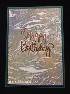 Being CreateAble with Heather McCarthy: Eureka Stamper Challenge Day 2 Some Cards, Distress Ink, Stamping Up, Folded Cards, Diy Cards, Stampin Up Cards, Birthday Cards, Happy Birthday, Thank You Cards