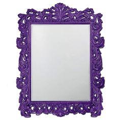 "Howard Elliott Napoleon Glossy Royal Purple Mirror 63"" x 85"" x 2"""