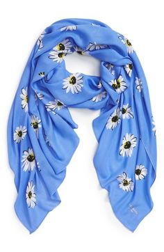 kate spade new york 'falling daisy' oblong twill scarf available at #Nordstrom