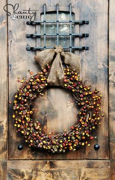 @ Kim Taylor You could hang a wreath like this on your new door....just use the ribbon under the little ledge!
