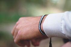 #black #white #bracelets #men #boys #mate