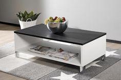 MONACO-sohvapöytä 110x60cm valkoinen/musta - Sohvapöydät | Sotka.fi