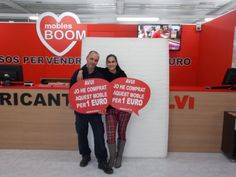 Ayer martes Sofía G. M. y Rafael C. B. se compraron ¡¡¡ POR SOLO 1 EURO !!! este COLCHÓN en nuestra tienda de Muebles Boom #MARTORELL (Avinguda del Congost, 37, 08760 Martorell, Barcelona). Un posado que derrocha estilo y satisfacción