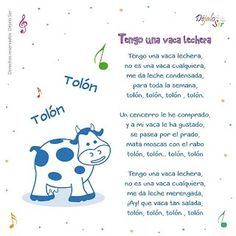 *Letras de Canciones infantiles. - EduInf35 Preschool Spanish, Preschool Songs, Preschool Education, Teaching Spanish, Teaching Kids, Baby Lyrics, Baby Songs, Kids Songs, Infant Activities