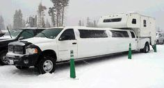 Dodge Extended-Cab Limousine With Camper #Cool #WeirdLimos #Cool #Exotic #Cars #CarsofPinterest
