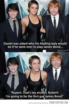 I have to say that while I only appreciated Daniel Radcliffe in the later Harry Potter movies and loathed him entirely in the early films, I do rather like how much he trolls the media.