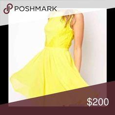 TB Bright Yellow Fit & Flare Dress TB Bright Yellow Fit & Flare Dress. TB2 which is a size US6 Ted Baker Dresses