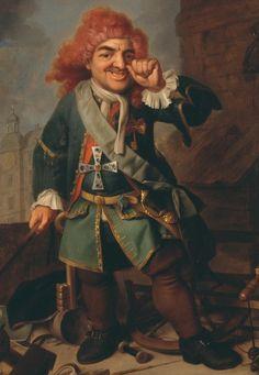 """El enano de la corte de Heidelberg, Perkeo (""""Portrait of Clemens Perkeo, fool at the Court of Heidelberg""""). Johann Georg Dathan. 1730. Localización: Museo del Palatinado (Heidelberg). https://painthealth.wordpress.com/2016/07/18/el-enano-de-la-corte-de-heidelberg-perkeo/"""