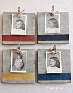 Nautical set of photo frames por Homeroad en Etsy