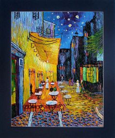 Van Gogh - Cafe Terrace at Night Pre-Framed. Hand painted oil painting reproductions available at overstockArt.com #art
