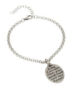 Love this Stainless Steel 'Be Kind, Love Others' Charm Bracelet by Wise Creations on #zulily! #zulilyfinds