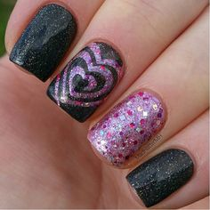 "Sparkly swirls by @madhattermh. Do you swirl?! - I ""Heart"" Swirls Nail Vinyls  snailvinyls.com"