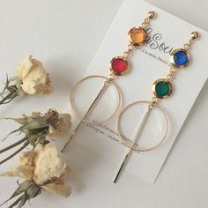 Fancy Earrings, Unique Earrings, Beaded Earrings, Drop Earrings, Mickey Mouse Quilt, Japanese Jewelry, Necklace Online, Bangles, Bracelets