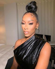 The face you make because you're always ready Makeup by Glam Makeup Look, Black Girl Makeup, Girls Makeup, Makeup Looks, Beauty Skin, Beauty Makeup, Hair Makeup, Hair Beauty, Glow Makeup