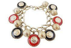 1950s Napier Charm Bracelet carriescouture