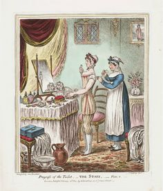 Progress of the Toilet, plates 1, 2 and 3 by James Gillray, published February 26, 1810