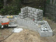 how to build an outdoor fireplace with cinder blocks - Google Search