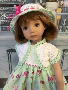 """Marvelous Mint"" Made for 13"" Effner Little Darling ~ by Treasured Doll Designs"