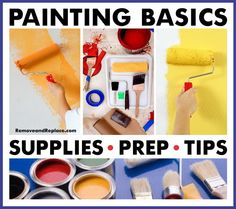 Painting Basics 101 – Prep Tips And Supplies List Basic Painting, Painting Tips, Indoor Paint, House Paint Interior, Interior Painting, Paint Prep, Paint Supplies, Pallet Painting, Supply List